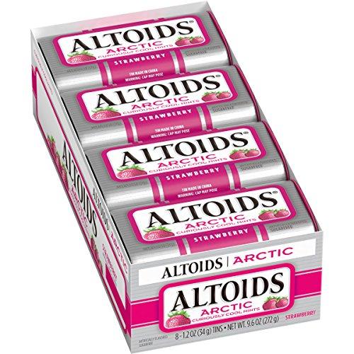 ALTOIDS Arctic Strawberry Mints, 1.2 oz. (Pack of 8)