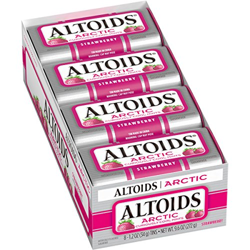 ALTOIDS Arctic Strawberry Mints 12 oz Pack of 8