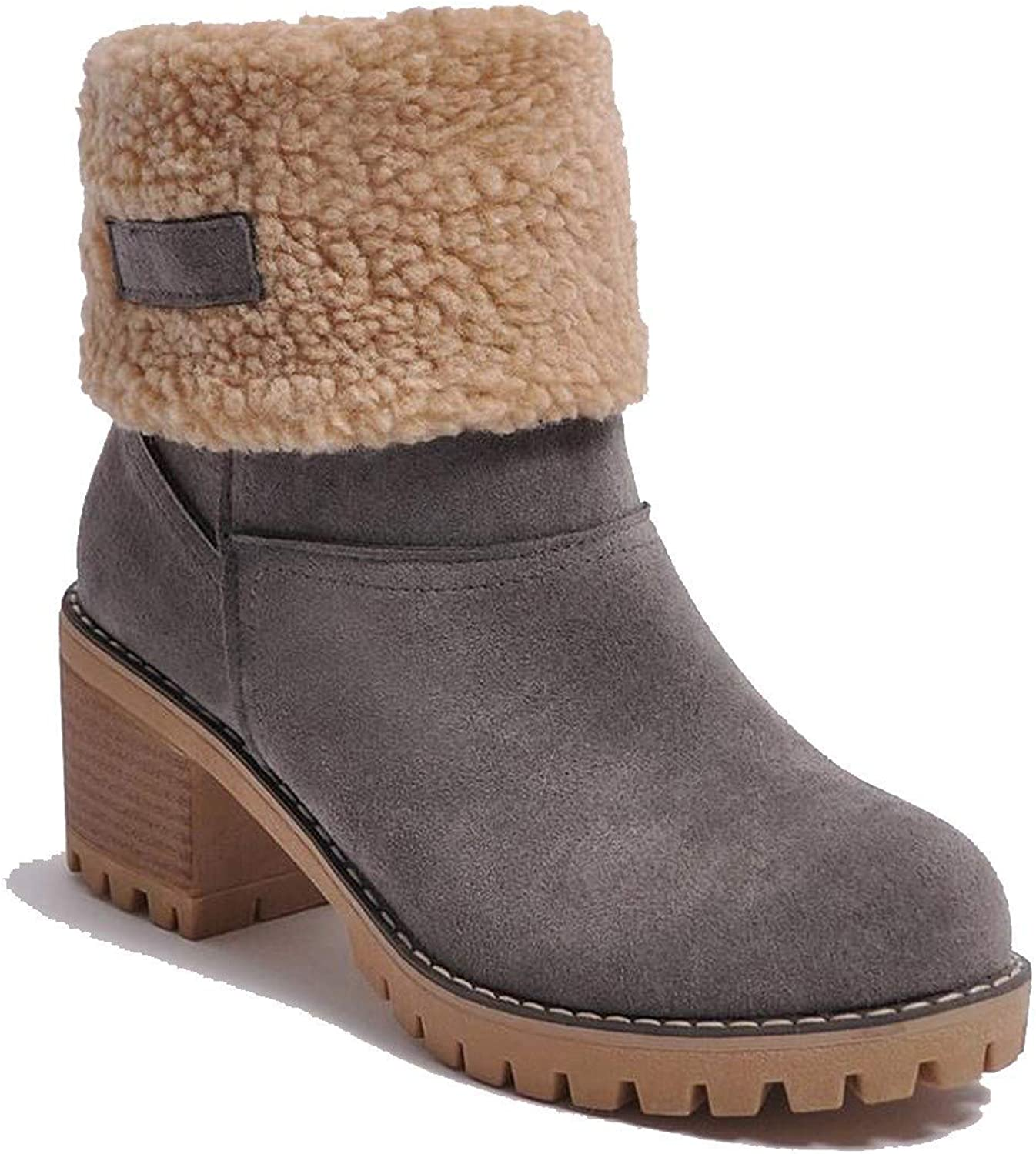 Women Boots Female Winter shoes Woman Fur Warm Snow High Heels Ankle Black Green Boots,