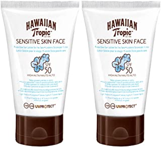 Hawaiian Tropic Sensitive Skin Face - Crema Solar para la Cara de Piel Sensible, SPF 50, 60ml