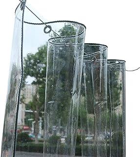 350 G//M/², 550 G//M/² Lonas Lona Transparente De PVC Impermeable Con Ojales Lona Transparente Resistente A Prueba De Rasgaduras para Plantas De Jard/ín De Patio Al Aire Libre