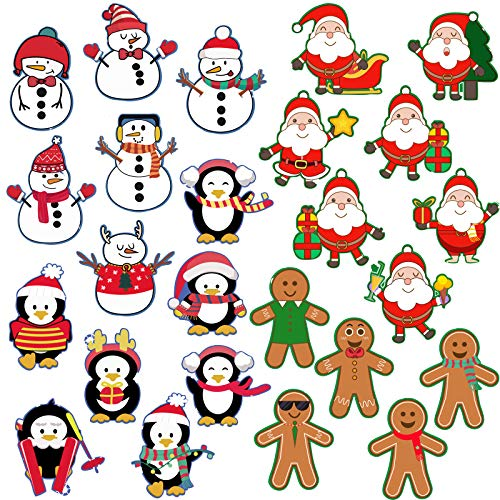 24 Sheets Christmas Holiday Stickers 318 Pieces Snowmen Santa Penguins Christmas Tree Shape Stickers Party Favors Game Stickers for Xmas Decorations Supplies or Cards Envelopes Present Boxes Craft Tag