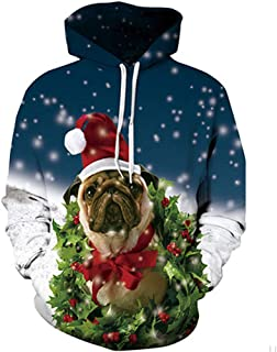 FLYWM,Unisex Hoodies Funny 3D Printed Hooded Jumper Mens Pullover Lightweight Hooded