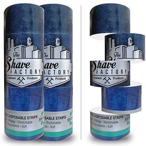 Shaving Factory-Lote de 2rollos, 10bobinas de papel mallas para cuello, 1000secciones, alta calidad