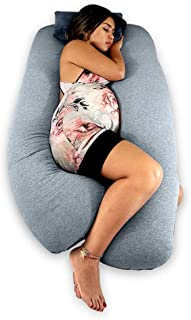 Titan Premium U-Shaped Pregnancy Pillow Includes Support Pillow. Removable and Reversible Cover with Minky Fur Side and Jersey Knit Cotton Side.