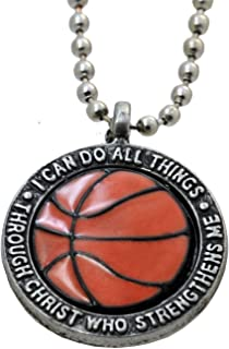 Basketball Necklace I Can Do Philippians 413