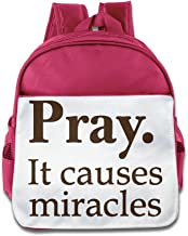 Ysov Pray It Causes Miracles Child Preshool School Bag RoyalBlue