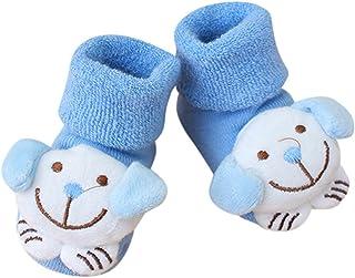 Calcetines Bebe Niña Algodon Invierno de Dibujos Animados de Animales de Navidad, Calcetines Niño Antideslizantes Animados Antideslizante Calcetín para Niñas Niños Infantil