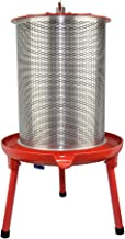 Hydraulic Fruit Wine Press - Electricity-Free/Water-powered Cider Wine Bladder Press, Natural Juice Making(10.7 Gallon, with Filter Bag/Splash Guard)