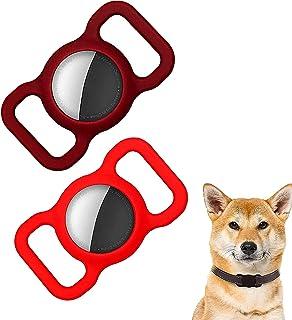 ペットシリコーン保護gpsファインダー犬猫の首輪ループ、airtag犬の首輪ホルダー、bluetoothトラッカーカバーbluetoothファインダーケースペット子供高齢者のバッグ (E)