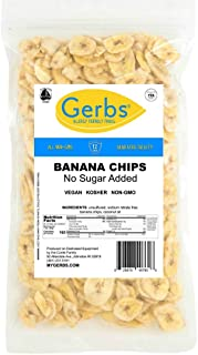 GERBS Unsweetened Banana Chips, 64 ounce Bag, Unsulfured, Preservative, Top 14 Food Allergy Free