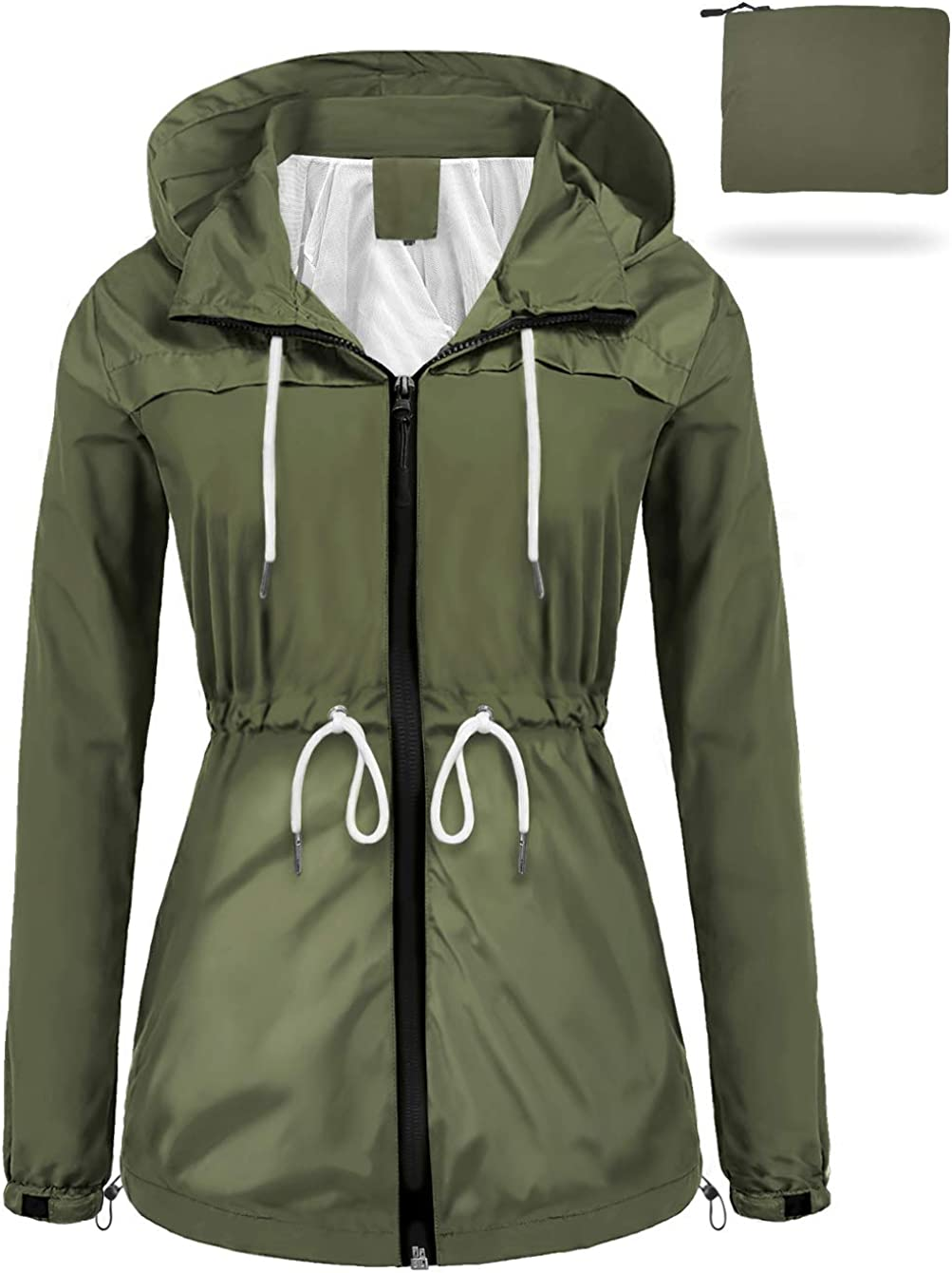 sunseen Recommendation Women's Outdoor Waterproof Purchase Lightweight Packable Raincoat