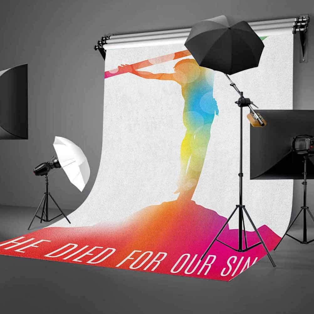 8x12 FT Quote Vinyl Photography Background Backdrops,Abstract on The Cross Scenery with Message of Inspiration Colorful Dreamy Display Background for Photo Backdrop Studio Props Photo Backdrop Wall