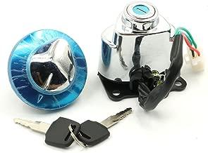 Ignition Switch Gas Cap Helmet Steering Lock Keys For Honda Shadow Aero 750 VT750CE 2014 Shadow Aero 750 VT750C 2004-2012 Shadow ACE 750 VT750CD Deluxe 1998-2003 Shadow ACE 750 VT750C 97-03