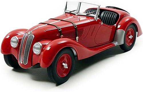 Minichamps- Véhicule Miniature-BMW 328-1936-Echelle 1 18, 155025031, Rouge