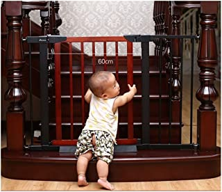 HONGNA Expandable Stairs Fance Baby Gates Extra Wide Isolation Door Bar Pet Free Punching Fence Dual Lock Self Closing  Color White  Size 173-180cm