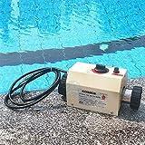 cjc 220V Electric Swimming Pool Heater 3KW/5KW/11KW/15KW SPA Bathe Bath Hot Tub Thermostat (3KW,...