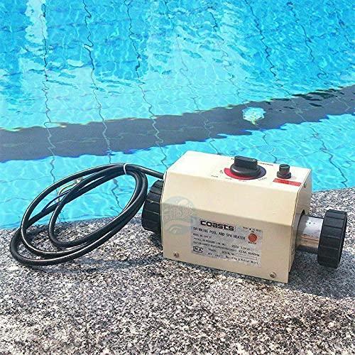 cjc 220V Electric Swimming Pool Heater 3KW/5KW/11KW/15KW SPA Bathe Bath Hot Tub Thermostat (3KW, 220V)