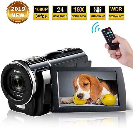 Camcorder Full HD 1080p 30fps 24.0MP Digital Camera Macro...