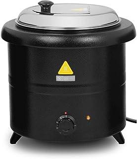 Royal Catering Soupière Électrique Electrique Professionnelle Pro RCST-13SB (600 W, 13 l, 30-80 °C, Acier/INOX, Couvercle ...