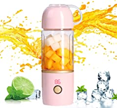 Portable Blender,Personal Blender for Shakes and Smoothie,Cordless Small Juice Cup Extractor, USB Rechargeable Juicer Deta...