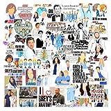 Grey's Anatomy Sticker Pack 106pcs Pcs tv Show Creative DIY Stickers Funny Decorative Cartoon for Cartoon PC Luggage Computer Notebook Phone Home Wall Garden Window Snowboard