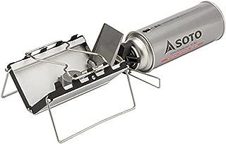 ソト(SOTO) Gストーブ ST-320 シングルバーナー キャンプ用 アウトドアコンパクト カセットガス用 ミニガスバーナー ガスストーブ バーナー 火力が強い ソロキャンプ ツーリング BBQ 登山 キャンプ用品 収納バッグ付き