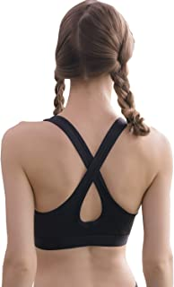 YuuBO Women's Padded Sports Bra Removable Chest pad Racerback Hollow Out Medium Support Workout Yoga Fitness Running Gym Vest