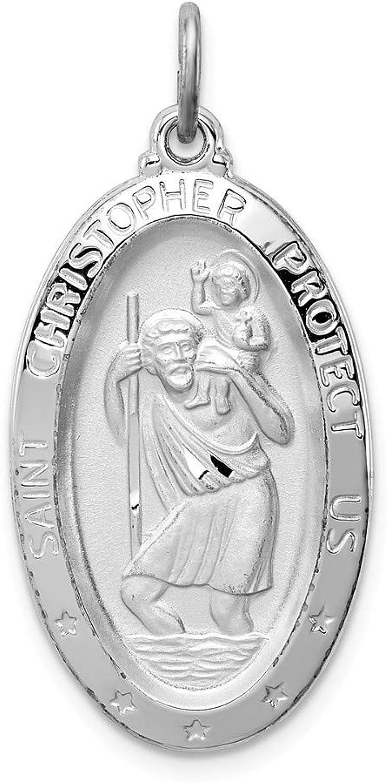 Sterling Silber rhodiniert rhodiniert rhodiniert St. Christopher Medaille B06ZZ124GJ 1ee090