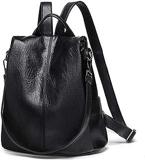 Kenoor Vintage Backpack Casual Daypack for Women and Ladies Fashion Shoulder Bag (Black)