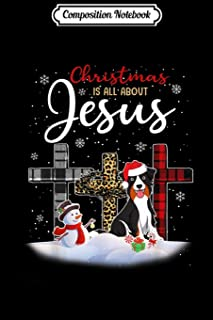 Composition Notebook: Australian shepherd Dog Christmas Is All About Jesus Xmas  Journal/Notebook Blank Lined Ruled 6x9 100 Pages