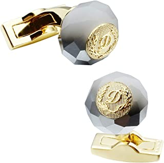 Bead Cufflinks Men Set for Shirt with Elegant Gift Box Perfect Business Wedding Gift for your lover, families and friends ...