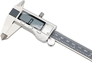 Stainless Steel Digital Vernier Caliper, Electronic Ruler Measuring Tool 0-6 Inch/150 mm, Inch/Metric/Fractions Conversion with Large LCD Screen, by Model A, FstDgte