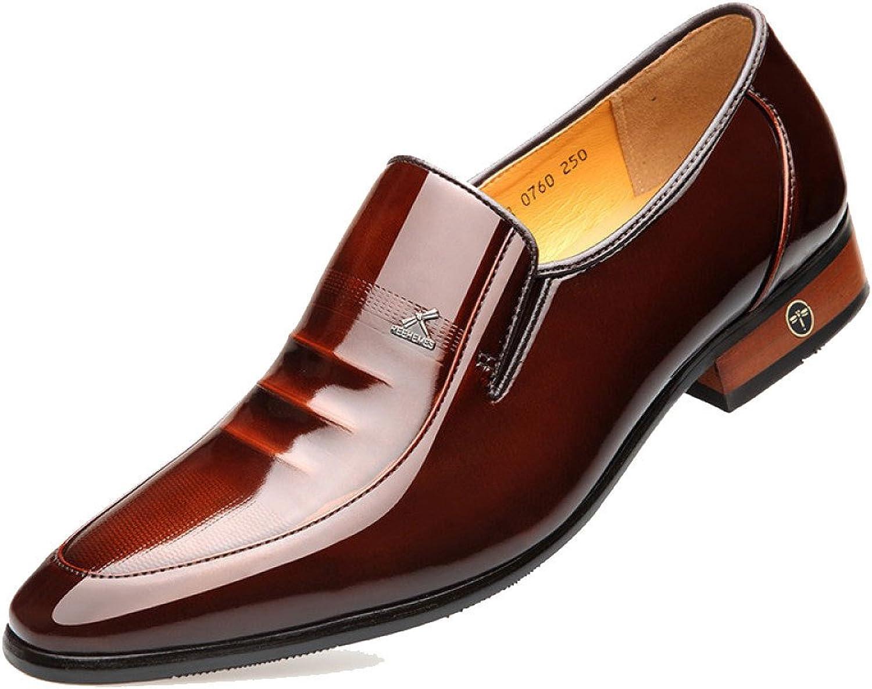 LEDLFIE Men's Leather shoes Business Dress Brown Men's shoes