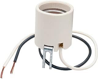 Legrand 8052CC10 Medium Base Lamp Holder, Bracket Mounted 660-watt 250-volt, porcelain, white