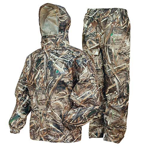 FROGG TOGGS Men's Standard Classic All-Sport Waterproof Breathable Rain Suit, Realtree Max-5, Large