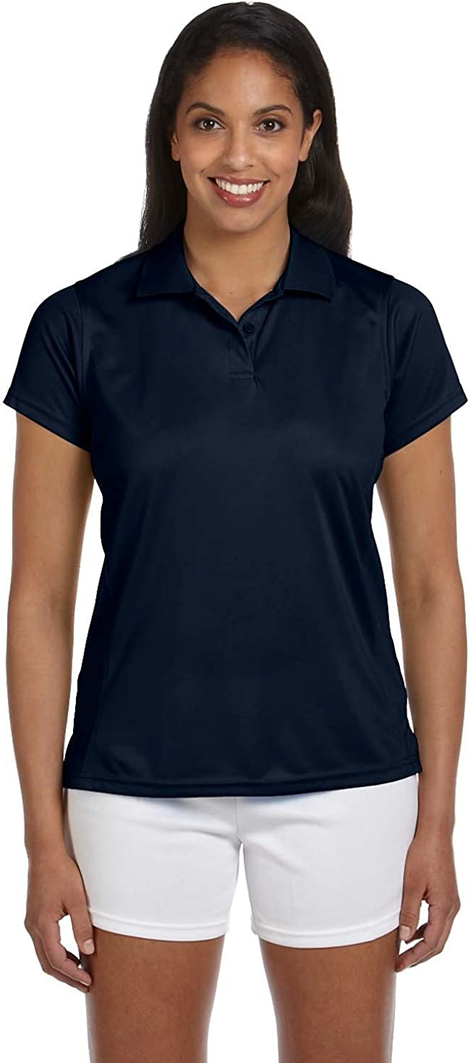 Product of Brand Harriton Ladies 4 oz Polytech Polo Shirt - Navy - S - (Instant Savings of 5% & More)