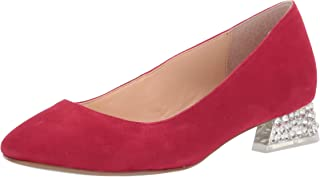 Blue by Betsey Johnson Women's SB-Frida Ballet Flat, Red Suede, 7.5 M US