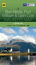 Walker's Map Ben Nevis, Fort William & Glen Coe
