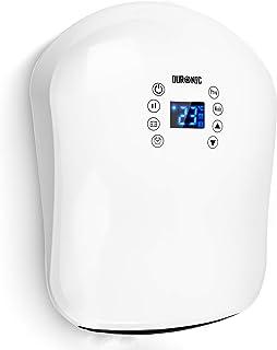 Duronic BFH20 Calefactor ventilador de baño con potencia ajustable de 1000W a 2000W con temporizador y detección de apertura de ventanas - Calefactor eléctrico de pared