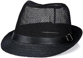 Zxwzzz Gorras Sombrero de Vaquero de Malla Transpirable de los Hombres Verano Escalada en Bicicleta Sombrero para el Sol Sombrilla Sombrero de Playa UV (Color : Black)