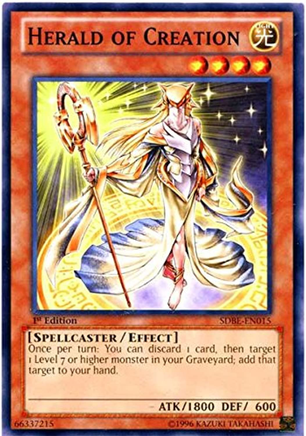 YuGiOh     Herald of Creation (SDBEEN015)  Structure Deck  Saga of blueeEyes White Dragon  1st Edition  Common 55ac1c
