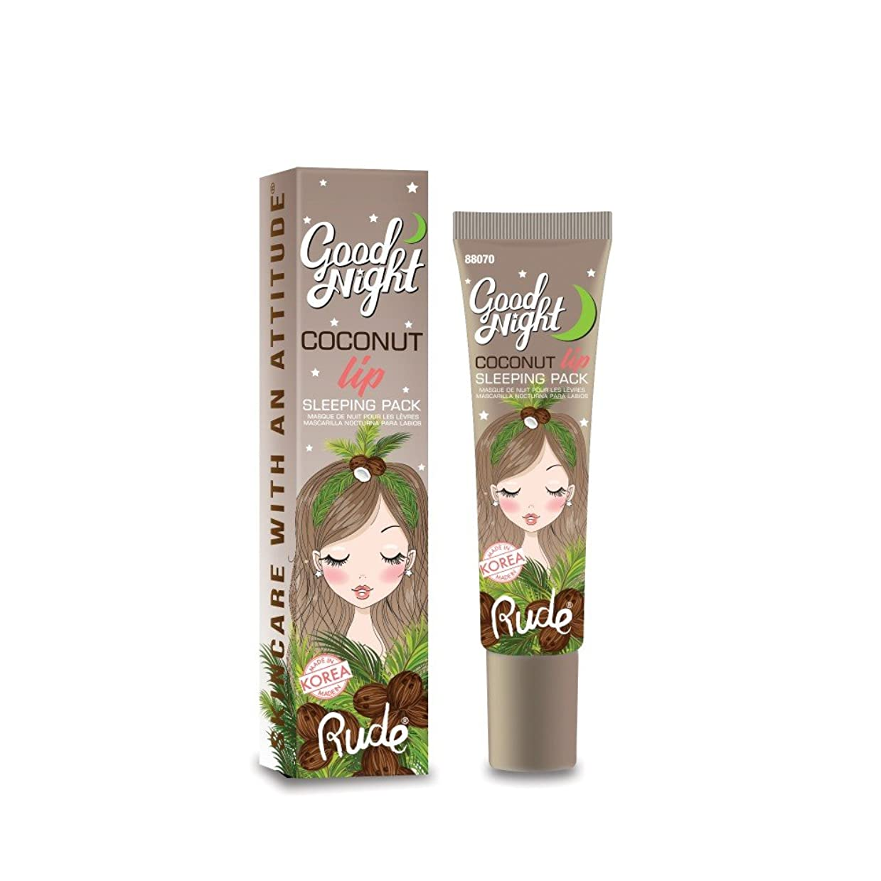 検査官上にコンクリート(6 Pack) RUDE Good Night Coconut Lip Sleeping Pack (並行輸入品)