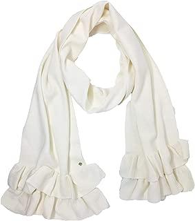 kate spade new york ruffle muffler scarf cream One Size