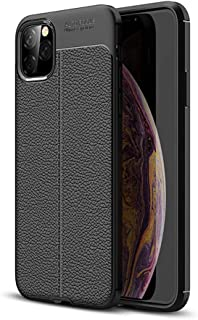 Business style For iPhone 11 6.1 inch litchi pattern mobile phone Case soft anti fall Protective sleeve all inclusive cove...