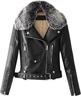 Best fleece collar leather jacket Reviews