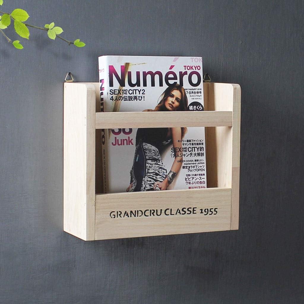 Wall-Mounted Magazine Max 48% OFF Holder Solid Storage Award-winning store Decorative Wood Box