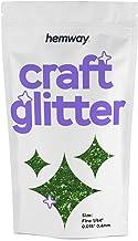 "Hemway Emerald Green Craft Glitter 100g 3.5oz FINE 1/64"" 0.015"" 0.4MM for Arts Crafts Tumblers Schools Paper Glass Decorations DIY Projects"