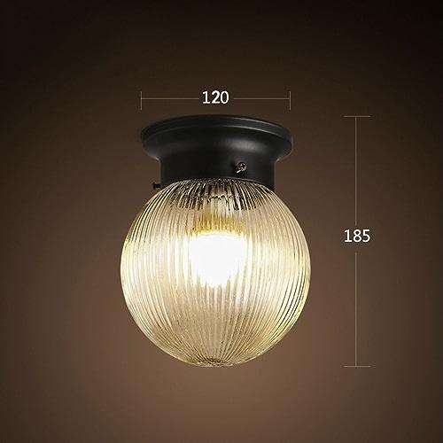 GuoShop- American Style Retro Simple Créatif Led Bedroom Corridor Aisle Entrée Balcon Cuisine Ronde Petite Plafonniers Et Lanternes E27 lumière Mouth