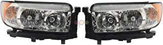 For Subaru Forester 06 - 08 W/O Sport Package Halogen Head light Lamp 84001Sa471 Pair